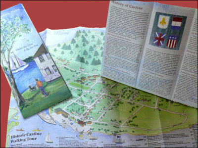 The Castine Walking Map, available at locations throughout Castine.