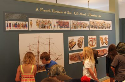 Adams School students view the 2015 Hermione exhibit. Photo 2015
