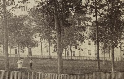 Castine common c.1870. Grindle House on right through the elms