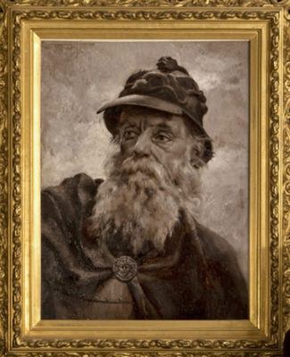 Imagined likeness of Baron St. Castin as portrayed by artist W.H. Low. Courtesy of Witherle Memorial Library.