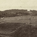 Baseball game at Fort George c. 1890. A.H. Folsom, photographer