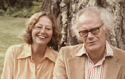 Elizabeth Hardwick, writer, and Robert Lowell, poet, in 1977