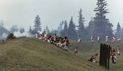 July 1979 reenactment of July 1779 battles between British and Americans. Gardiner Gregory, photographer