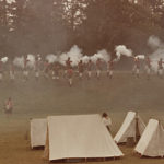 July 1979 reenactment of July 1779 battles between British and Americans. Gardiner Gregory, photographer.