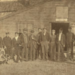 Men in front of the rope factory.