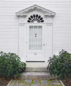 The entryway of a historic Castine home. Photo courtesy of Loi Thai.