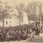 Dedication of Civil War Soldiers and Sailors Monument on Castine Town Common in 1886