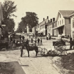 Lower Main Street in Castine, 1885 A.H. Folsom, photographer