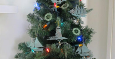 Nautical ornaments are among the merchandise for sale at the Castine Historical Society's downtown Castine Pop-Up Shop.