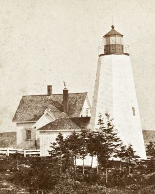 Dyce's Head Light, mid 19th century. Castine Historical Society collections.