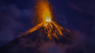 Fuego volcano is located 10 miles from this vacation home.