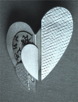 """The brooch """"The Heart of the Matter, Compassion"""""""