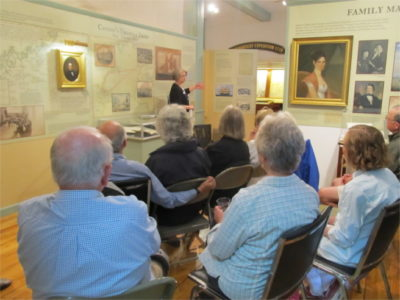 Curator Paige Lilly leads an exhibit talk about Risky Business: Square-Rigged Ships and Salted Fish