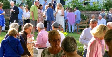 Attendees enjoy Summer in Full Bloom, our 2019 fundraiser.