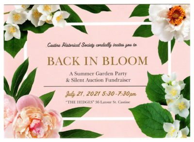 Join us for our Summer 2021 fundraiser.....in person!