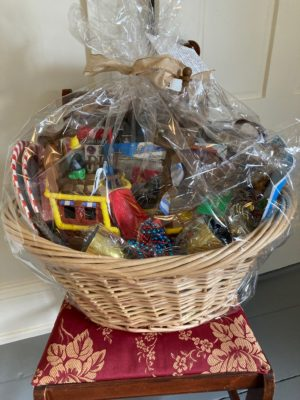 Do you have a little pirate at home? Then this basket is for you! Filled with pirate-themed toys, books, and DVDs this gift basket is sure to please any pirate loving child. Donated by Karen Burnett Kurie.